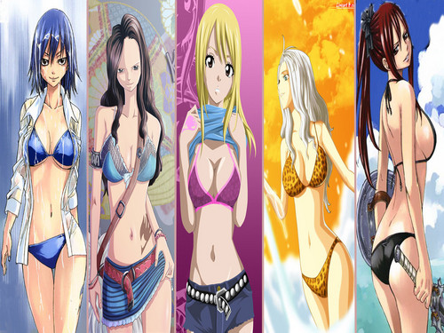 Fairy Tail Girls!<3
