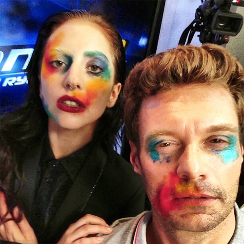 Gaga and Ryan Seacrest (Aug. 12)