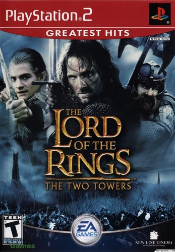 LOTR: The Two Towers - PS2 game cover (Front)