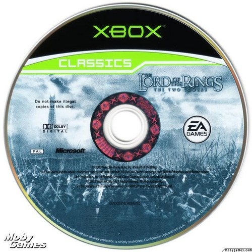 LOTR: The Two Towers - Xbox game disc