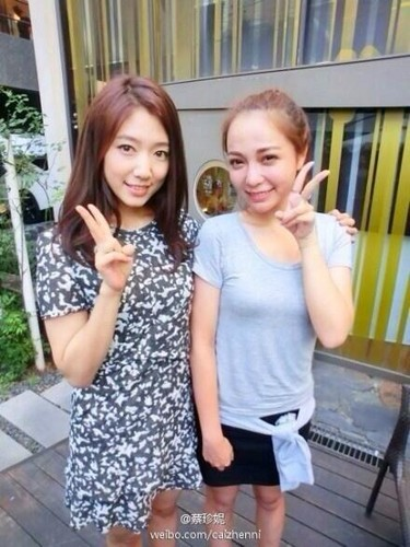 Park Shin Hye With China HS Media Person