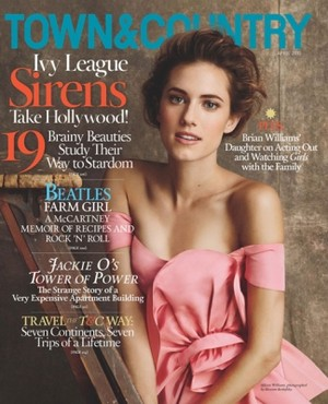 Allison Williams// Town and Country March 2013