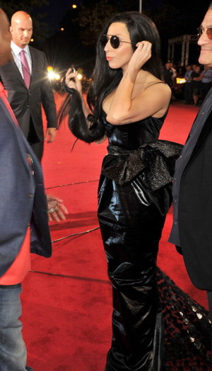 GaGa arraving at the mtv VMA (August 25)