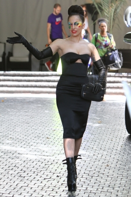 Lady Gaga leaves Chateau Marmont (August 15)