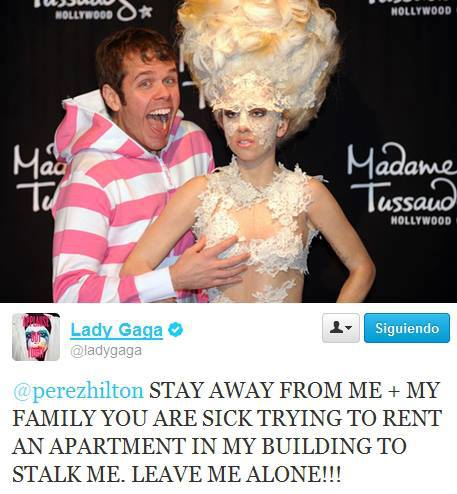 New tweet from Gaga refering to Perez Hilton