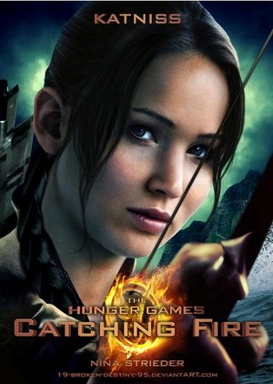 The Hunger Games: Catching 불, 화재 Katniss Poster