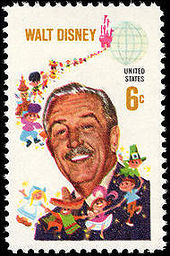 A Commemorative Postage Stamp Honoring Walt Disney