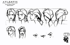 Atlantis The 로스트 Empire Model Sheets