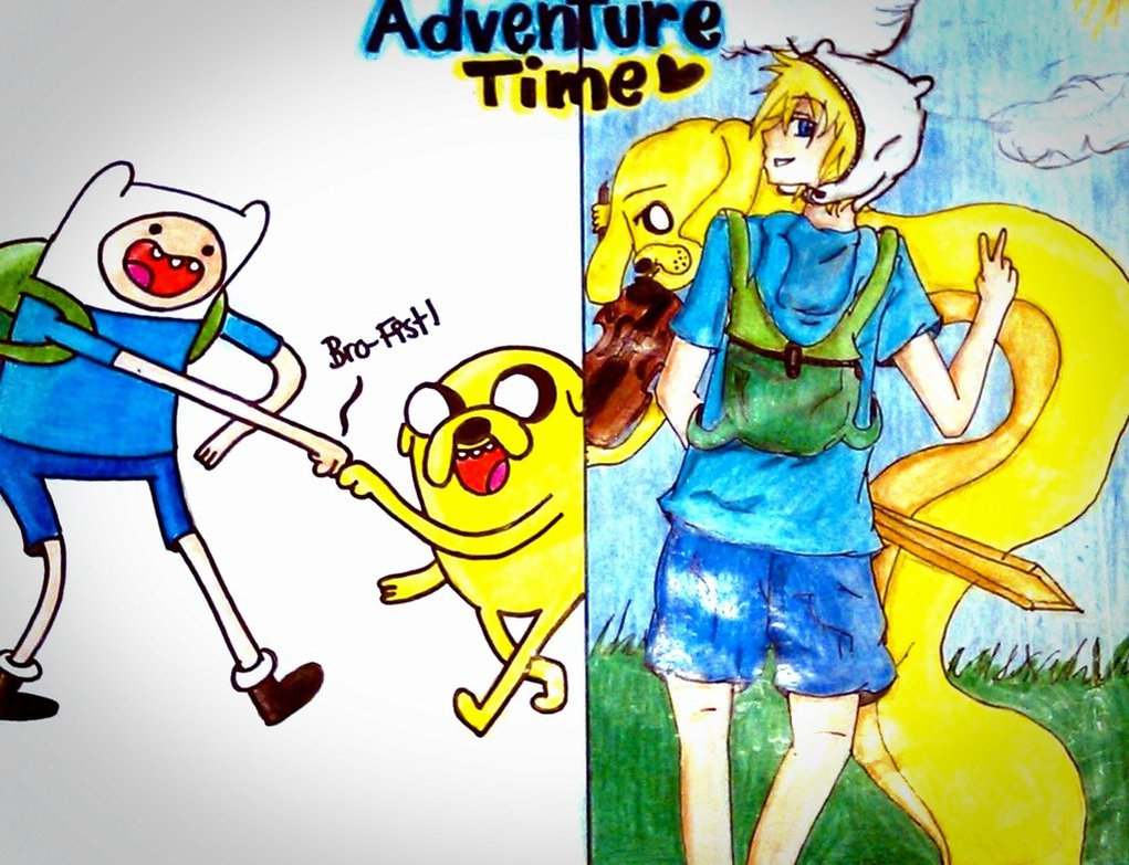 Anime Adventure Time Pictures cartoon turned to anime - adventure time with finn and jake