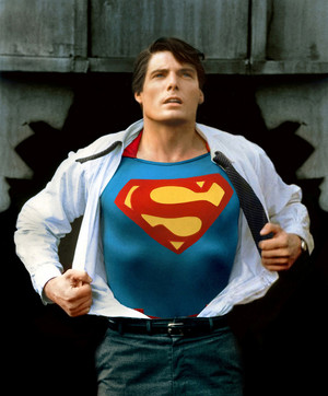 Christopher Reeve - Superman ((A classic photo recently restored))