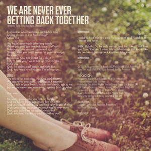 We Are Never Ever Getting Back Together Cd Single Interior