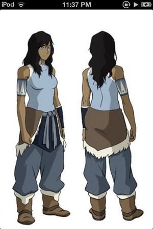 Book 2 Korra with her hair down