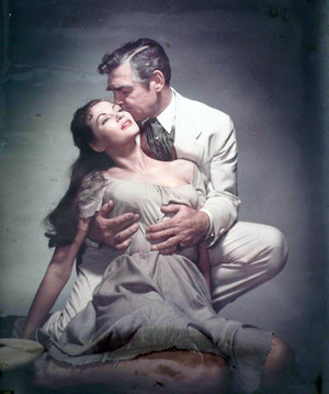 "Clark Gable and Yvonne De Carlo ""Band of Angels"""