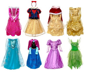 Disney Princess costumes from Disney Store
