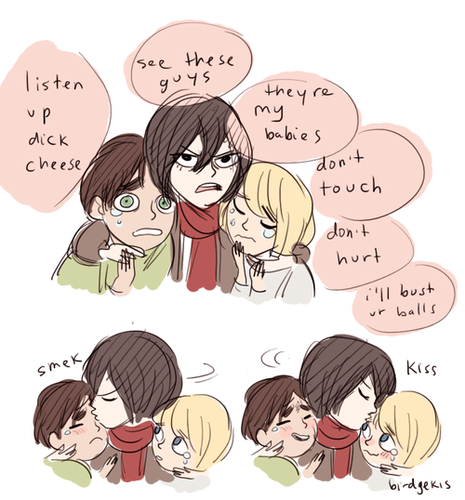 Eren Mikasa And Armin Shingeki No Kyojin Attack On Titan Photo 35552641 Fanpop