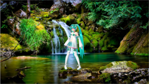 Hatsune enjoying the nature