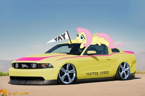 Ponies With Cool Cars