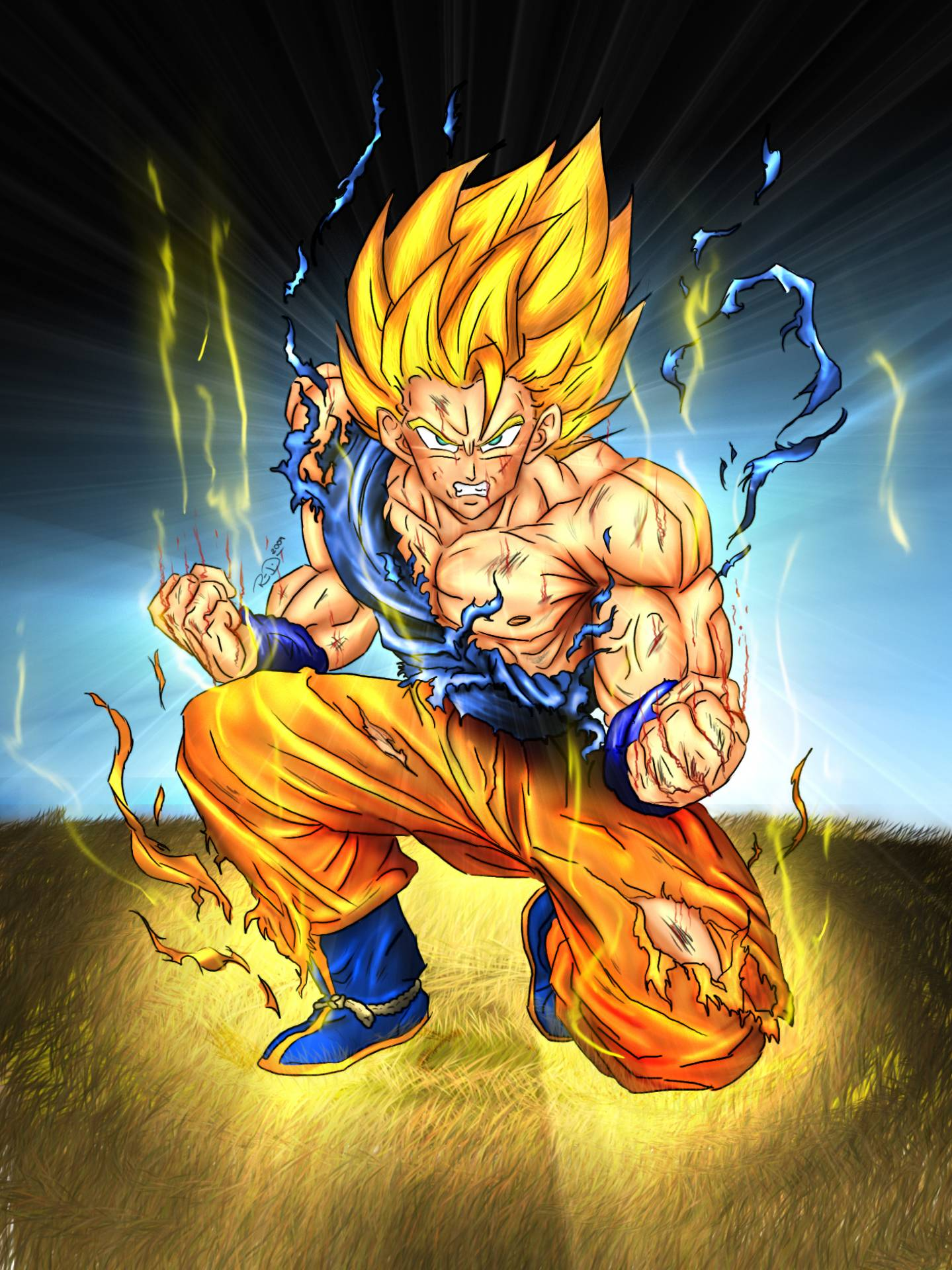 Super Saiyan Goku Dragon Ball Z Fan Art 35516340 Fanpop Page 3