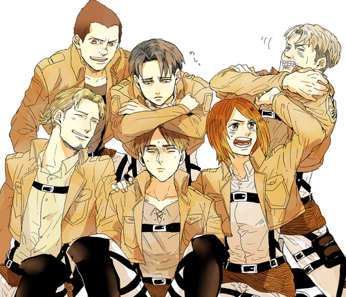 Snk Levi S Squad Shingeki No Kyojin Attack On Titan Fan Art 35631463 Fanpop
