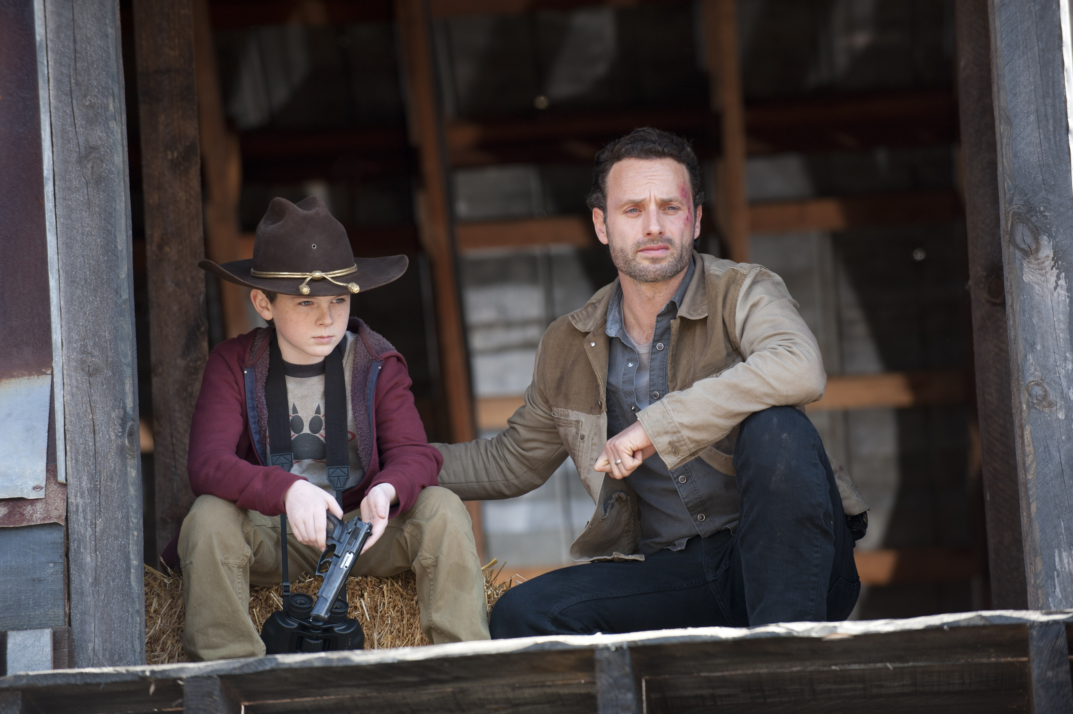 Carl And Rick The Walking Dead Photo 35608805 Fanpop