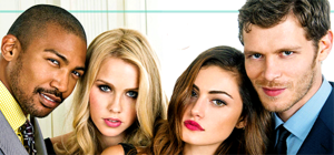 Claire Holt, Joseph Morgan, Charles Michael Davis and  Phoebe Tonkin
