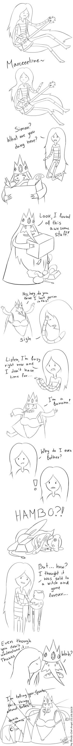Funny Marceline and Ice King Comic Strip. xD