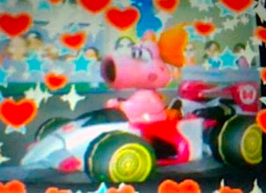 My DSi fotos of Birdo in Mario Kart Wi-edited using the editar function
