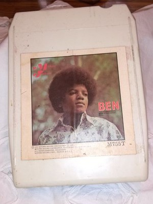 "1972 Micheal Jackson Motown Release, ""Ben"" On 8-Track Cassette"