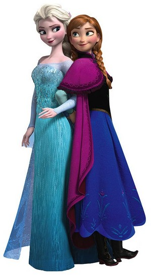 Anna and Elsa cling