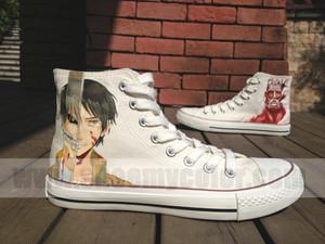 Attack On Titan hand painted custom shoes