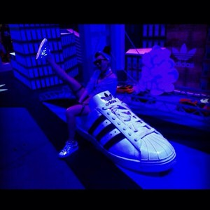 "CL's Instagram Update: ""My adidas kick"" (131007)"