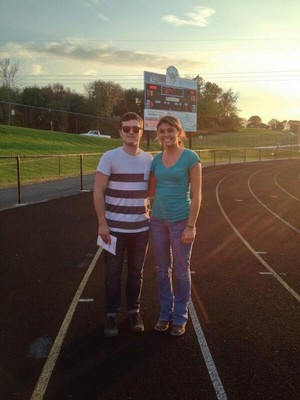 Josh at a Ryle football game today! (10.3.13)