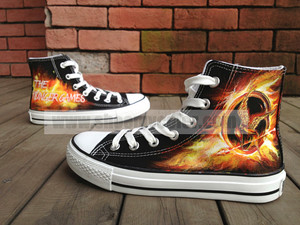 The Hunger Games sneakers hand painted shoes