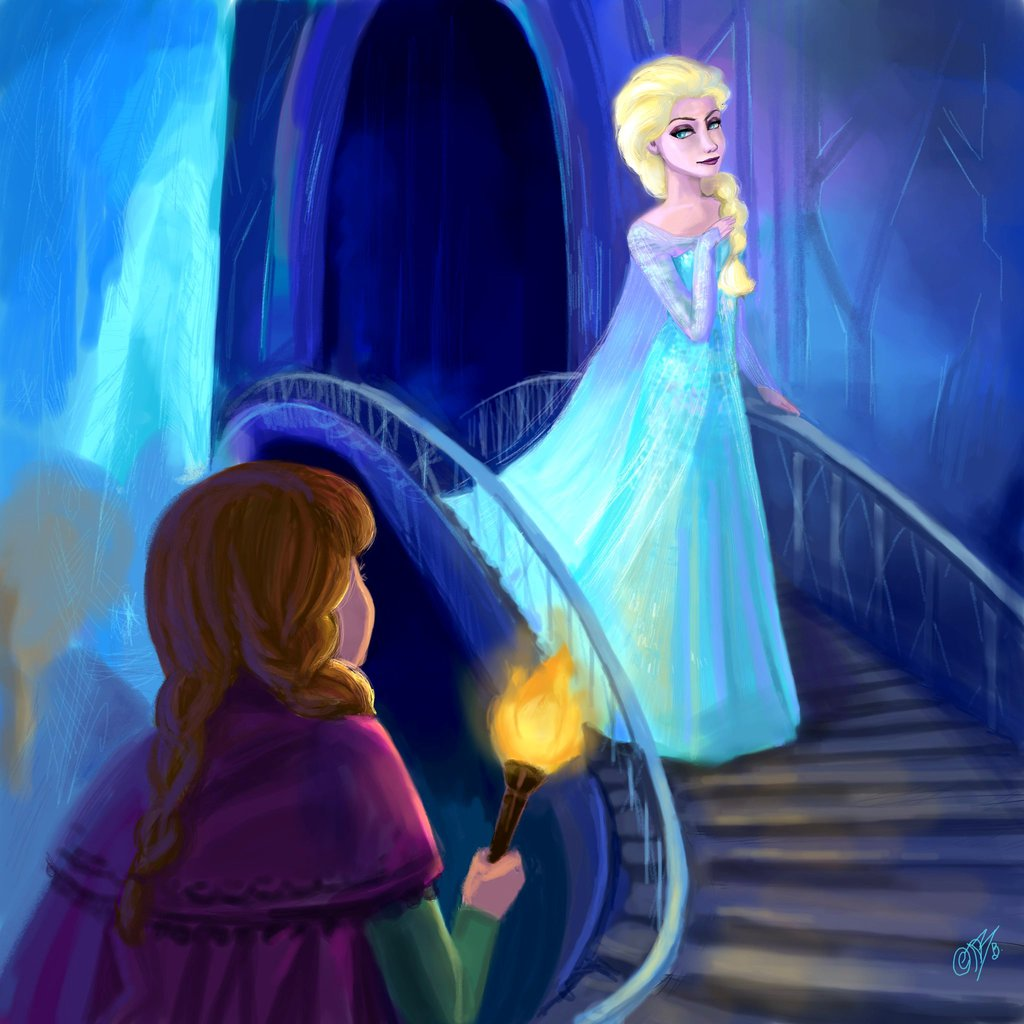 Anna and Elsa - Frozen Fan Art (35818660) - Fanpop - Page 20