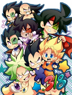 Cute Pureblood Saiyan Team