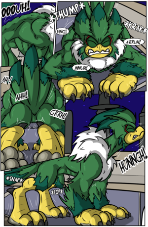 Jet the Werehawk transformation pg. 7