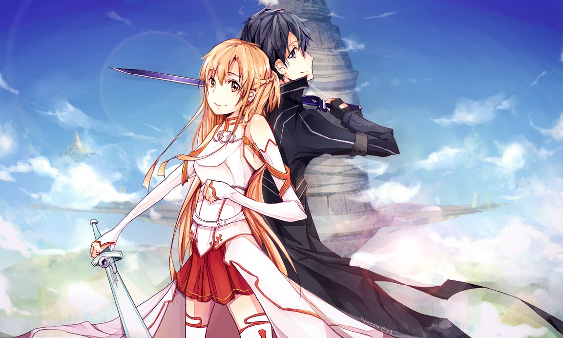 Foto Kirito Dan Asuna kirito and asuna - sword art online photo (35842915