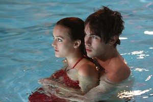Nate & Blair swimming