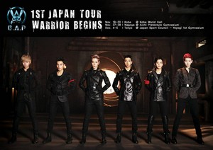 B.A.P poster for upcoming Japanese arena tour 'WARRIOR Begins'