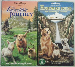 "Both Versions Of The Classic Film, ""Homeward Bound"" On VHS"