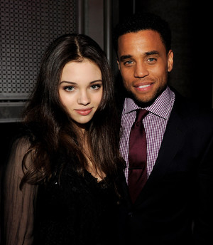 India Eisley and Michael Ealy at アンダーワールド Awakening premiere in LA