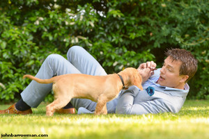 John Barrowman with dogs.