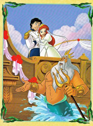 Walt Disney Book Images - Prince Eric, Princess Ariel & King Triton