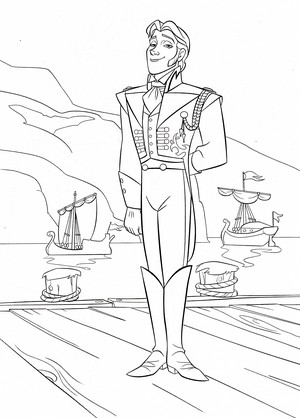 Walt ディズニー Coloring Pages - Prince Hans Westerguard