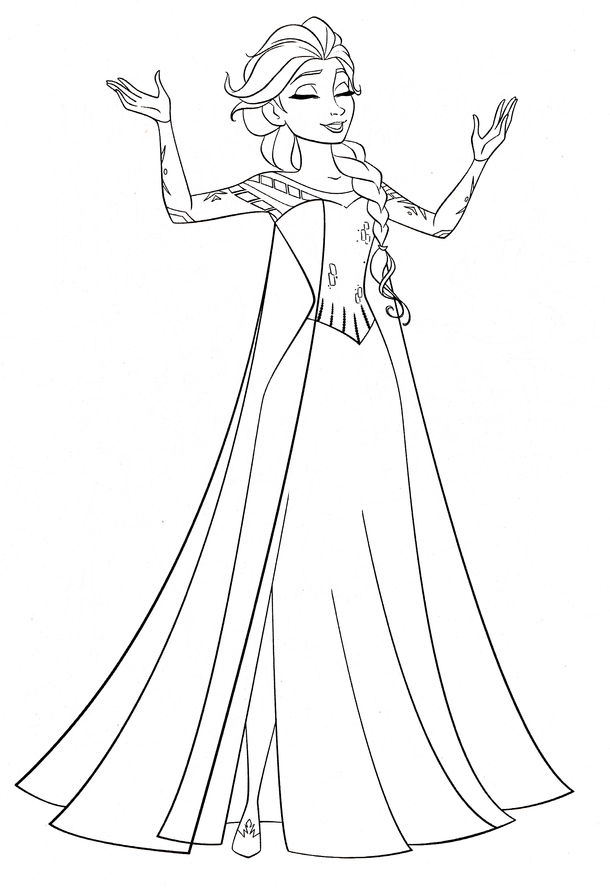 Walt Disney Coloring Pages - Queen Elsa