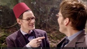 Doctor Who 50th Preview Image, Ten meets Eleven (and a fez)