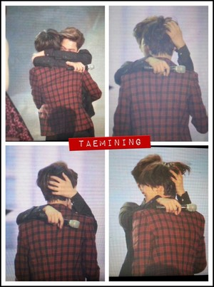 Exo Kai and SHINee Taemin Hugging - SHINee the Best Artist