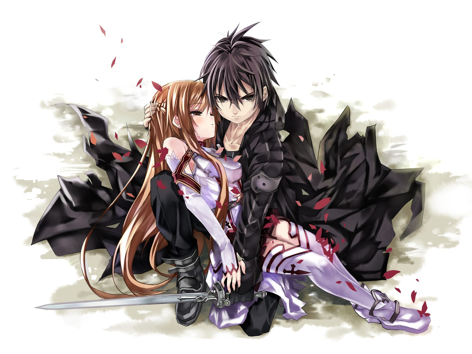 Foto Kirito Dan Asuna kirito and asuna - sword art online wallpaper (36026154