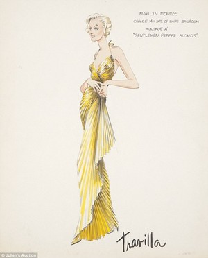 Marilyn Monroe Costume Sketches