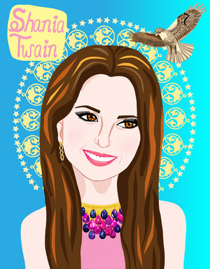 Portrait of Shania Twain